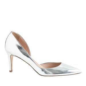 J Crew Valentina Mirror Metallic Pumps